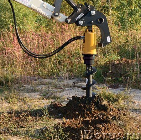Гидробур для экскаватора - погрузчика, гидровращатель для мини - экскаватора - Запчасти и аксессуары..., фото 10